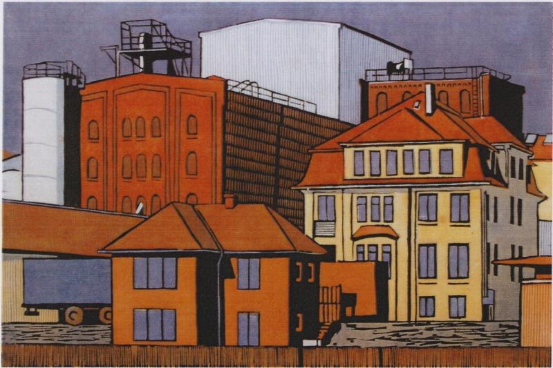 Doris Lenkeit – 11 Holzschnitte mit Hafenmotiven